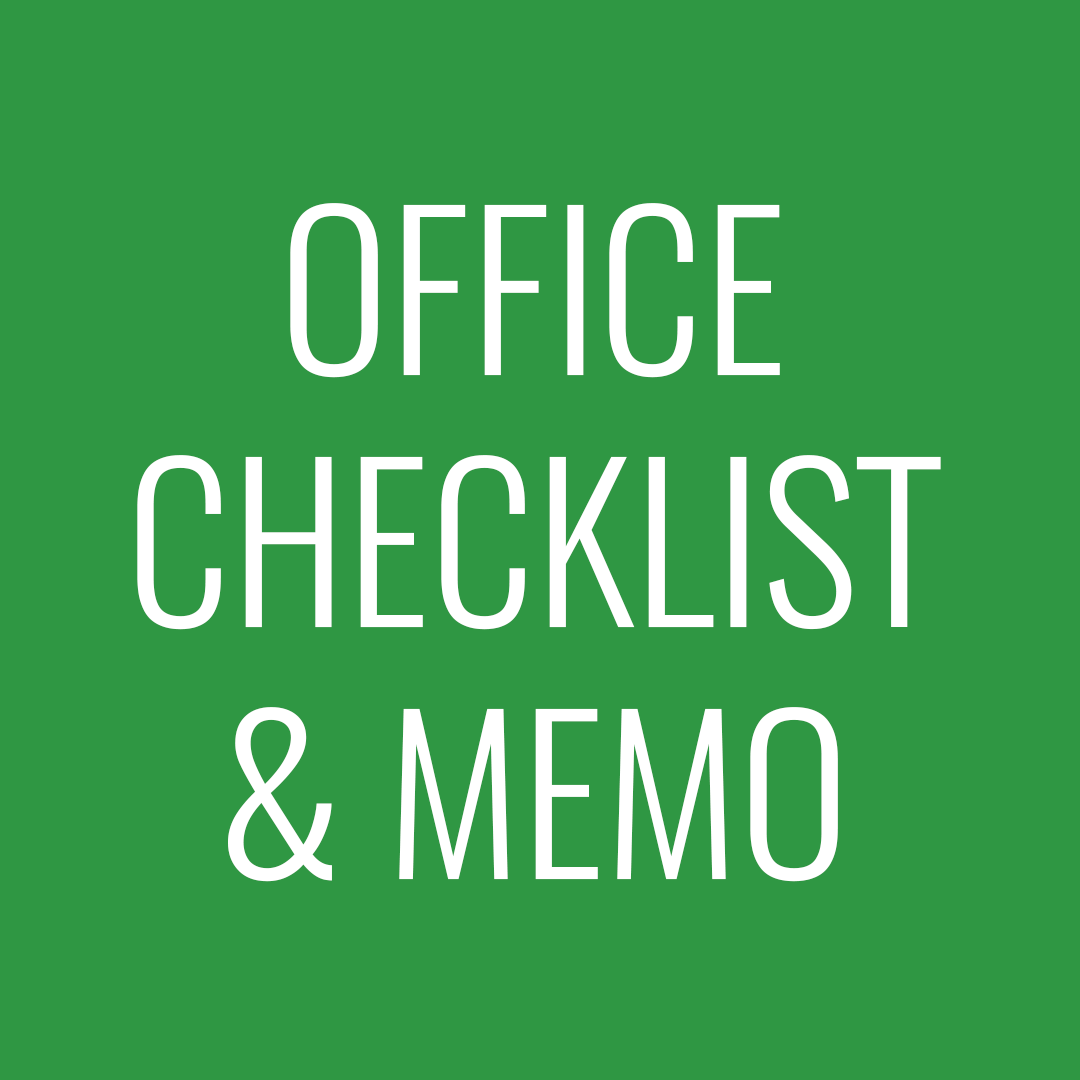 Office checklist + memo