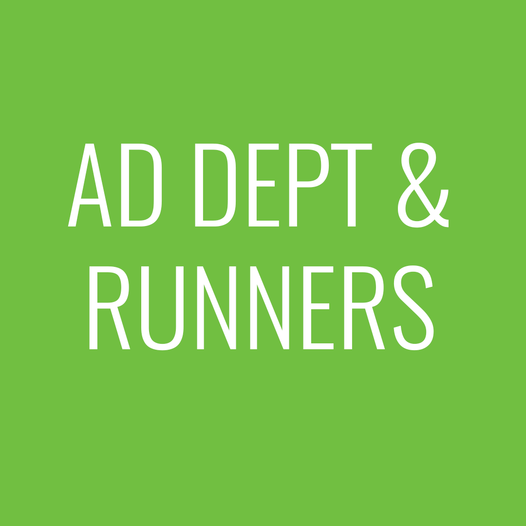 AD dept & runners