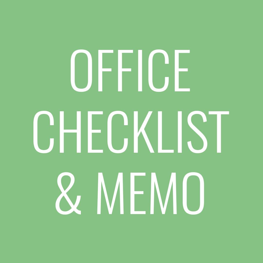 office checklist and memo