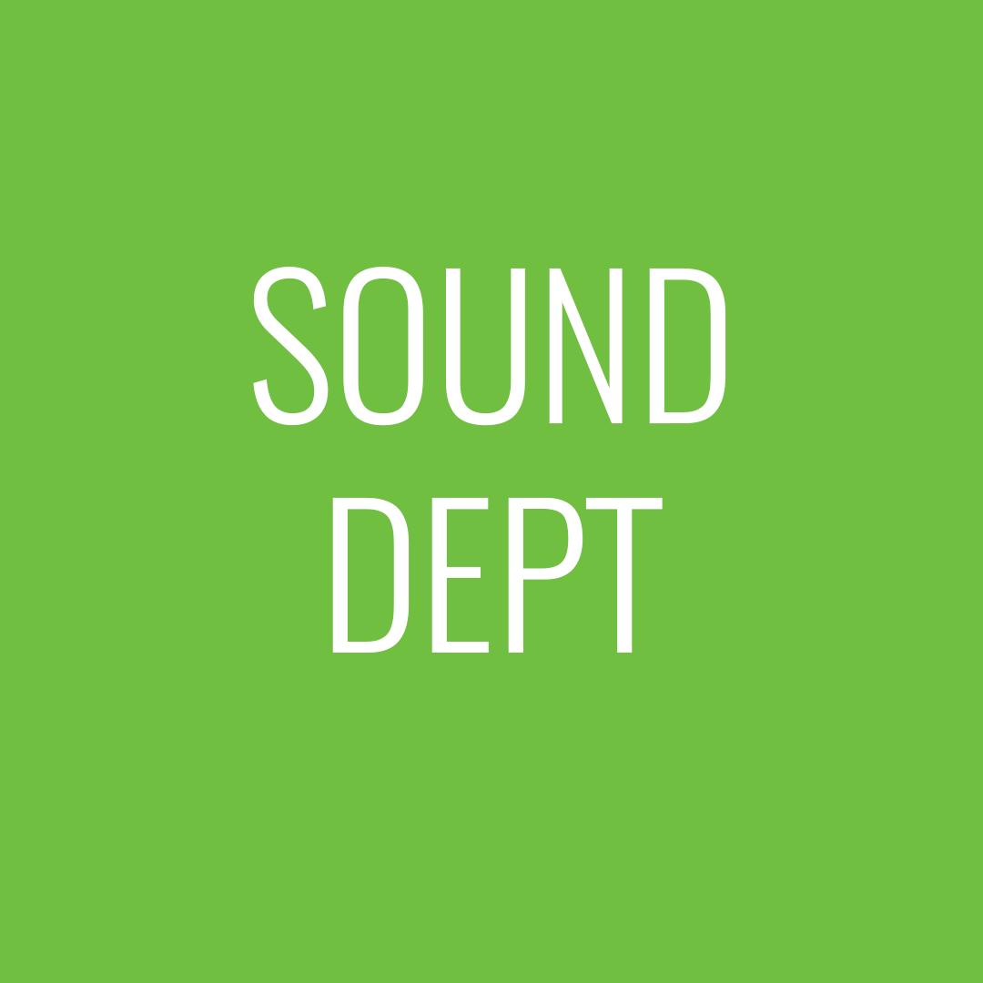 Sound dept
