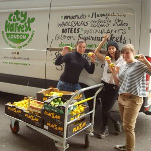Reducing food waste by donating to charities like City Harvest