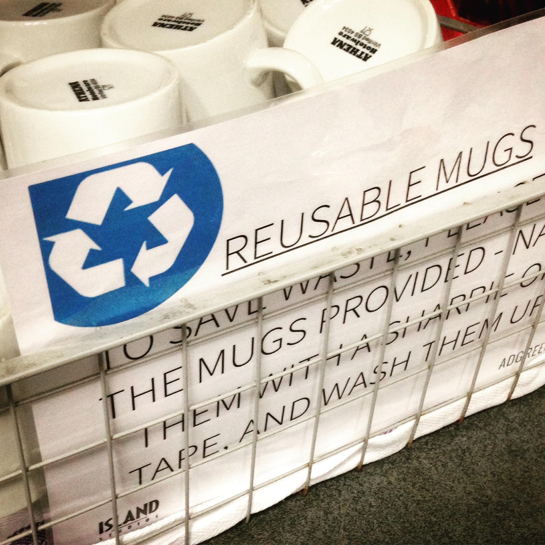 Mugs on set