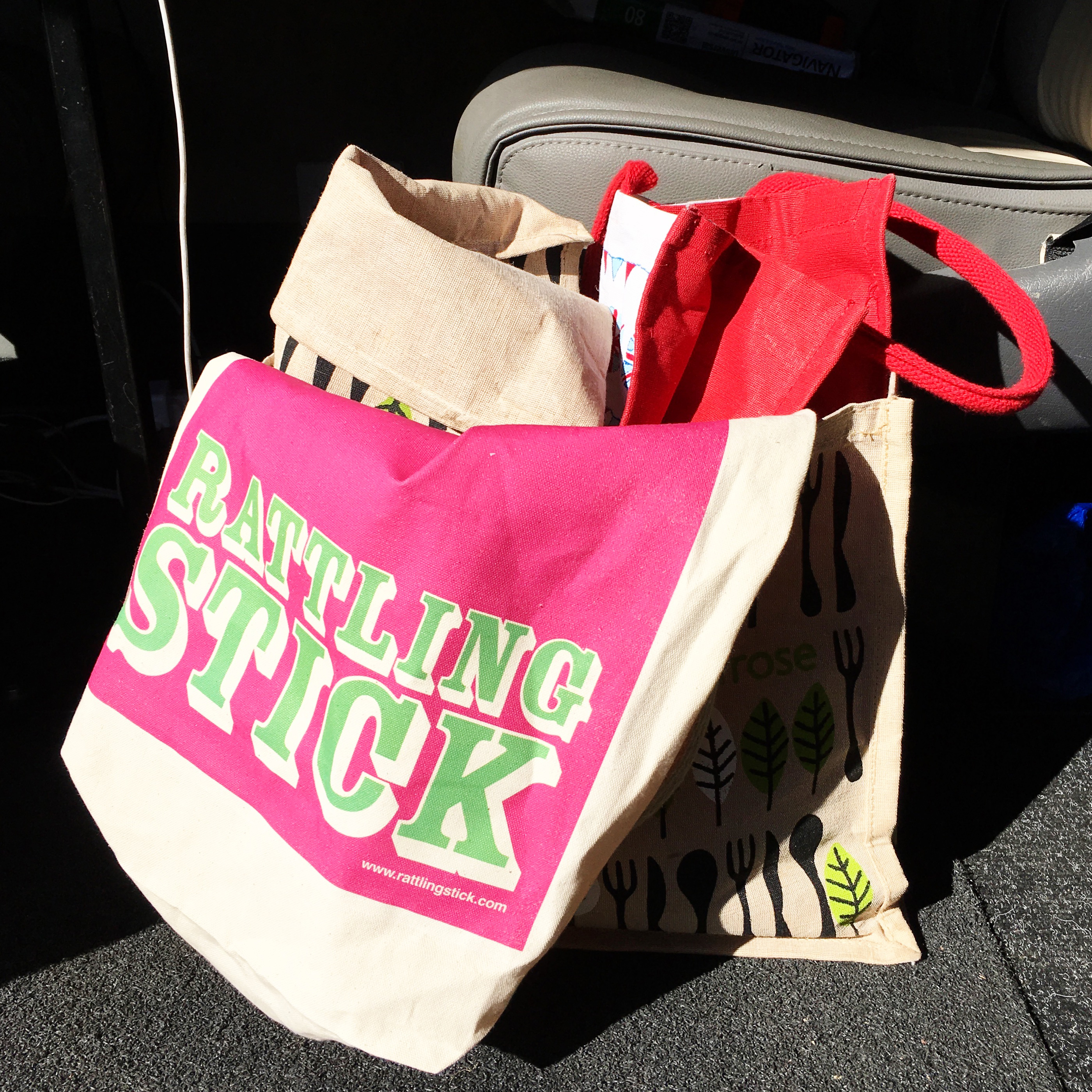 Rattling Stick's canvas bags