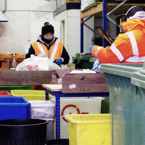 Sorting at Quantum Waste's depot