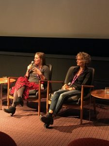 Andréa Fehsenfeld and Jo Coombes during the panel