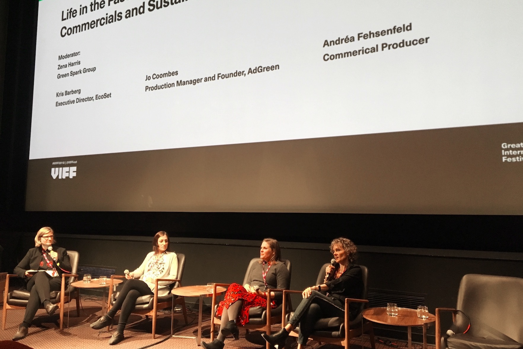 Commercials and Sustainable Production at VIFF's Sustainable Production Forum
