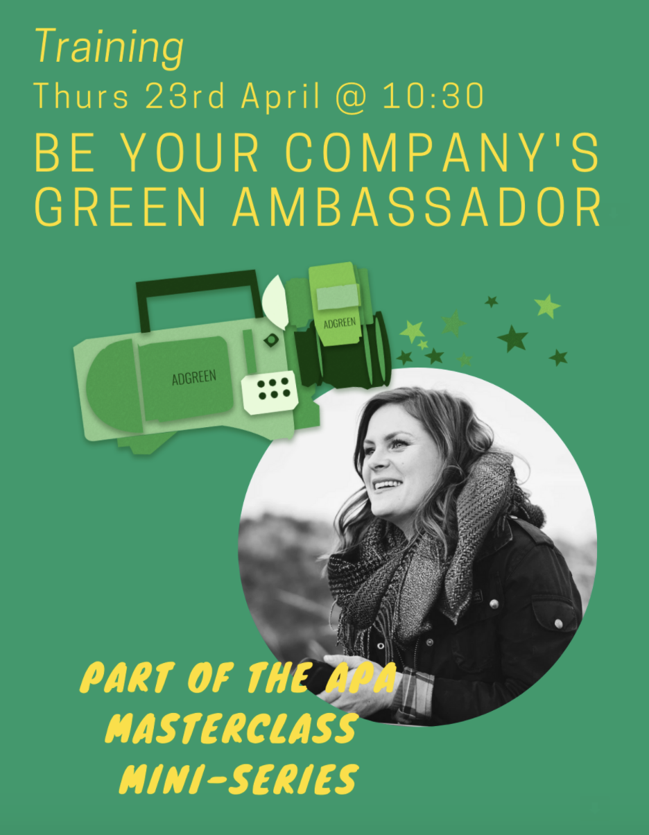 APA Online Session: Be Your Company's Green Ambassador